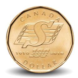 CANADA - 1 DOLLAR - Roughriders de la Saskatchewan - 2010