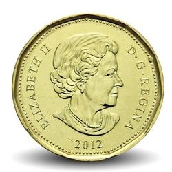 CANADA - PIECE de 1 DOLLAR - Coupe Grey - 2012