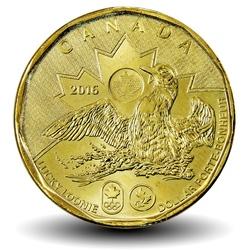 CANADA - PIECE de 1 DOLLAR - LUCKY LOONIE - JEUX OLYMPIQUES - 2016 Km#2089