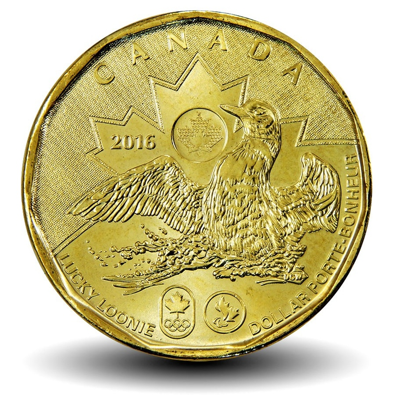 UNC. 2007 Canada Loonie One Dollar Coin.