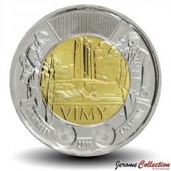 CANADA - PIECE de 2 DOLLARS - La bataille de la crête de Vimy -