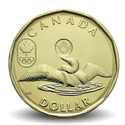 CANADA - PIECE de 1 DOLLAR - LUCKY LOONIE - JEUX OLYMPIQUES - 2012 Km#1256