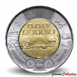 CANADA - PIECE de 2 DOLLARS - D-Day / Jour J - 2019