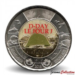 CANADA - PIECE de 2 DOLLARS - D-Day / Jour J - 2019 - Colorisée Km#NEW