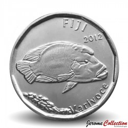 FIDJI - PIECE de 50 CENTS - Poisson Napoléon - 2012 Km#335