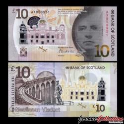 ECOSSE - Billet de 10 Pounds 2016 - Bank of Scotland - Polymer