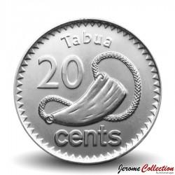 FIDJI - PIECE de 20 CENTS - Perruche écarlate - 2012