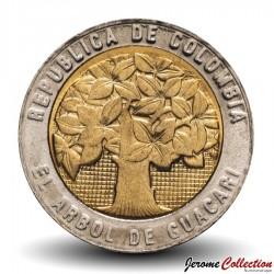 COLOMBIE - PIECE de 500 PESOS - Arbre de Guacari - Bimétal -