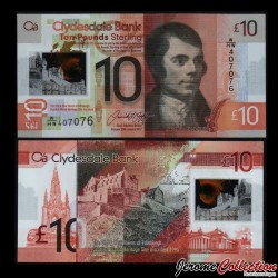 ECOSSE - Billet de 10 Pounds 2017 - Clydesdale - Polymer