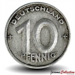 ALLEMAGNE DE L'EST / DDR / RDA - PIECE de 10 Pfennig - 1948