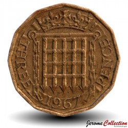 ROYAUME UNI - PIECE de 3 Pence - 1967 Km#900