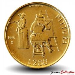 SAINT-MARIN - PIECE de 200 Lire - Le peinture - 1997