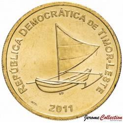 TIMOR ORIENTAL - PIECE de 25 Centavos - Pirogue à balancier - 2011