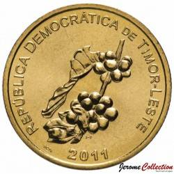 TIMOR ORIENTAL - PIECE de 50 Centavos - Un plant de café - 2011 Km#4