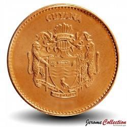GUYANA - PIECE de 5 Dollars - Canne à sucre - 2008