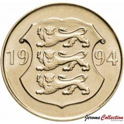 ESTONIE - PIECE de 5 KROONI - 75ème Anniversaire de la banque nationale estonienne - 1994
