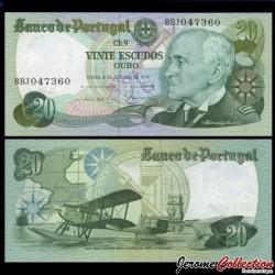 PORTUGAL - Billet de 20 Escudos - Amiral gago coutinho - 1978 P176b6