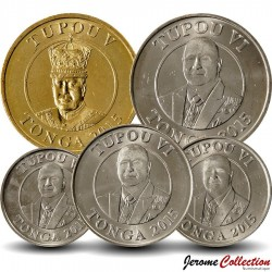 TONGA - SET / LOT de 5 PIECES de 5 10 20 50 Seniti 1 Pa'anga - 2015