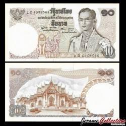 THAILANDE - Billet de 10 Baht - Temple Wat Benchama Bophit - 1969 /1978 P83a9