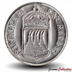 SAINT-MARIN - PIECE de 1 Lire - Fille avec drapeau national - 1973