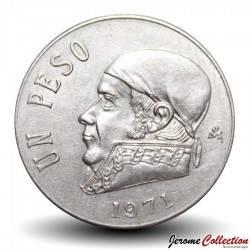MEXIQUE - PIECE de 1 Peso - José María Morelos y Pavón - 1971 Km#460