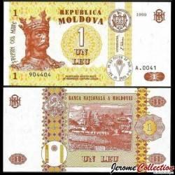 MOLDAVIE - Billet de 1 Leu - 1999