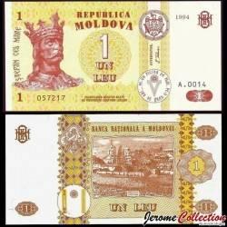 MOLDAVIE - Billet de 1 Leu - 1994