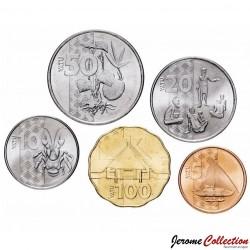 VANUATU - SET / LOT de 5 PIECES de 5 10 20 50 100 Vatu - 2015 Km#New