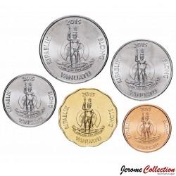 VANUATU - SET / LOT de 5 PIECES de 5 10 20 50 100 Vatu - 2015