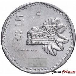 MEXIQUE - PIECE de 5 Pesos - Quetzalcóatl - 1981 Km#485