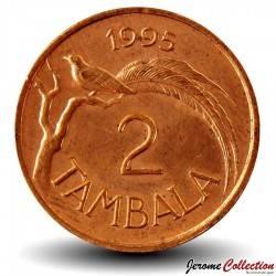MALAWI - PIECE de 2 Tambala - Oiseau de paradis - 1995 Km#34