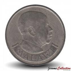 MALAWI - PIECE de 20 Tambala - Maman Eléphant et son petit - 1989
