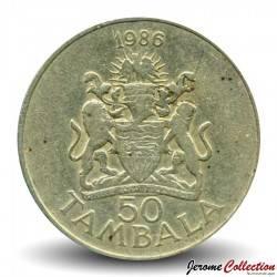 MALAWI - PIECE de 50 Tambala - Dr. Hastings Kamuzu Banda - 1986 Km#19