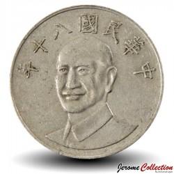 TAIWAN - PIECE de 10 Yuan - Chiang Kai-Shek - 1991 Km#553