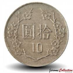 TAIWAN - PIECE de 10 Yuan - Chiang Kai-Shek - 1991