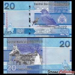 GAMBIE - Billet de 20 Dalasis - Oiseaux - 2019