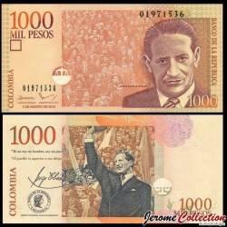 COLOMBIE - Billet de 1000 Pesos - Jorge Eliecer Gaitán - 2016
