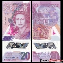 CARAIBES ORIENTALES - Billet de 20 DOLLARS - POLYMER - 2019