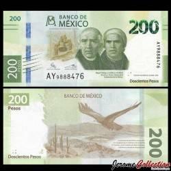 MEXIQUE - BILLET de 200 Pesos - 25 Ans de la Banque du Mexique - 2019