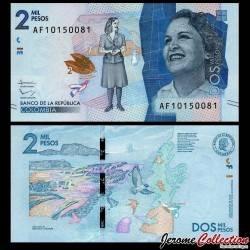 COLOMBIE - Billet de 2000 Pesos - Débora Arango Pérez - 02.08.2016 P458b