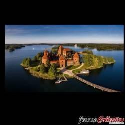 LITUANIE - Billet de 2 Litai - Mgr Motiejus Valancius / Chateau de Trakai - 1993