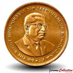 ILE MAURICE - PIECE de 5 Cents - Sir Seewoosagur Ramgoolam - 1999 Km#52