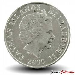 ILES CAIMANS - PIECE de 10 CENTS - Tortue verte - 2005