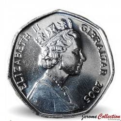 GIBRALTAR - PIECE de 50 Pence - Capture de Gibraltar - 2005
