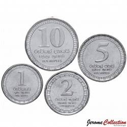 SRI LANKA - SET / LOT de 4 PIECES de 1 2 5 10 Roupies - 2017 Km#new