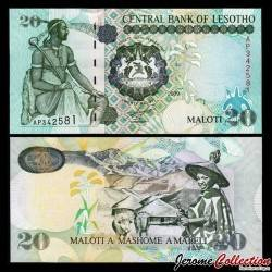 LESOTHO - Billet de 20 Maloti - Roi Moshoeshoe I - 2009 P16g
