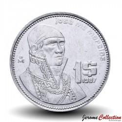 MEXIQUE - PIECE de 1 Peso - José María Morelos y Pavón - 1984 Km#496
