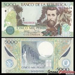 COLOMBIE - Billet de 5000 Pesos - José Asunción Silva - 2014