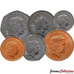 GUERNESEY (île de) - SET / LOT de 6 PIECES - 1 2 5 10 20 50 PENCE - 1998 / 2012