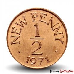 GUERNESEY (île de) - PIECE de 1/2 New Penny - Elizabeth II - 1971 Km#20